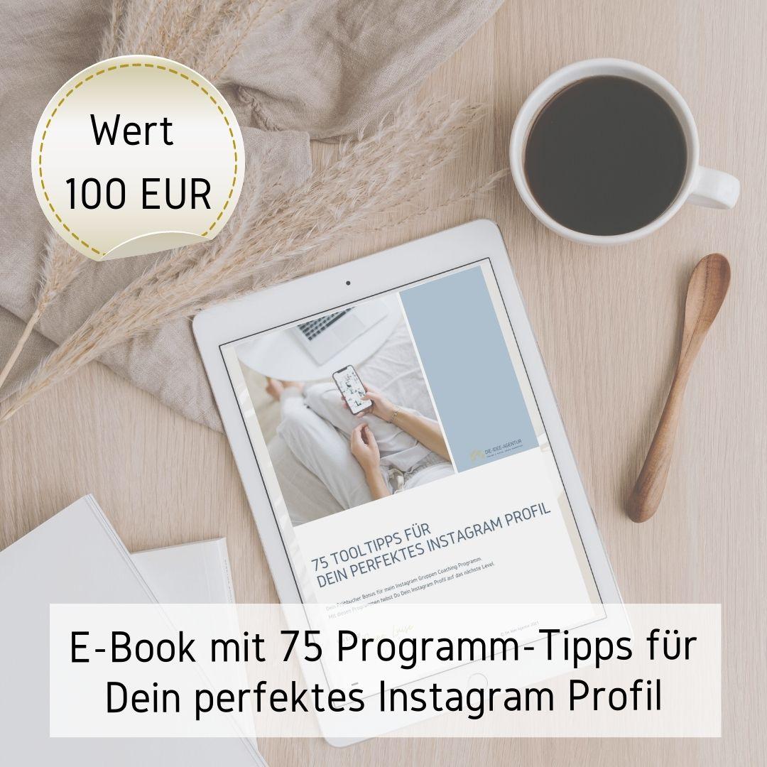 Bonus E-Book mit 75 Programm Tipps
