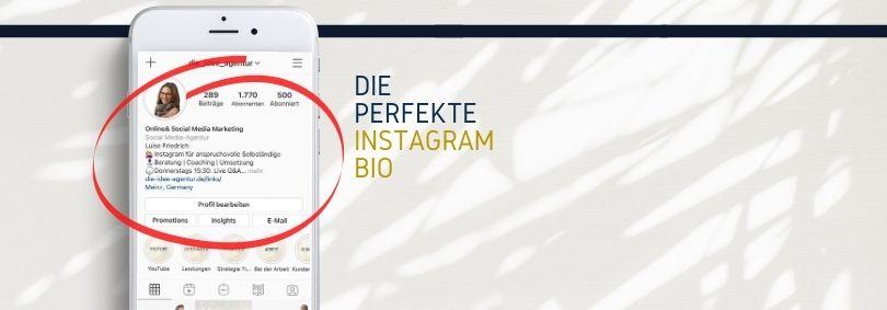 Die perfekte Instagram Bio - hier erfährst Du was rein gehört und es zu beachten gilt
