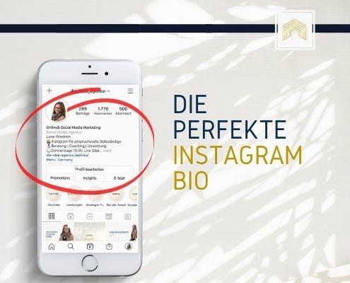 DIA Blog perfekte Instagram Bio - darauf solltest Du achten