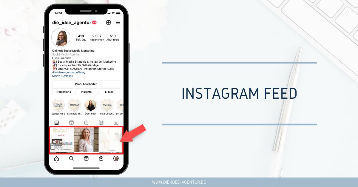 Instagram Begriffe - Feed